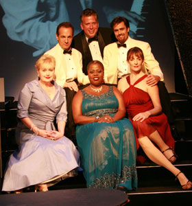 Jason Graae, David Burnham, Billy Stritch, Sally Mayes, Lillias White and Julia Murney in The Best Is Yet to Come (© Rod Lathim)