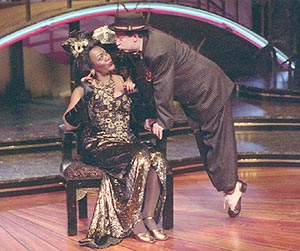 Chandra Currelley and Ross Lehman in Hot Mikado(Photo: Stan Barouh)