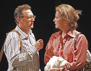 Victor Slezak and Margaret Colin