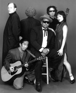 (l-r) Peter Von Berg, Richard Ebihara, Julia McLaughlin,Jose Rosario, Perry Yung, and Fay Ann Leein Forbidden City Blues