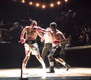 Kamar de los Reyes and Alfonso Ribeiro in Golden Boy(Photo: Gerry Goodstein)