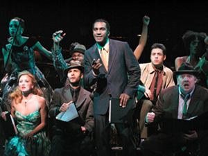 Norm Lewis (center) and company in Golden Boy(Photo: Gerry Goodstein)