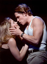 Kelli O'Hara and Jack Noseworthyin Sweet Smell of Success(Photo: Paul Kolnik)