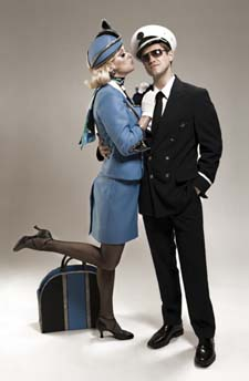 Aaron Tveit and Angie Schwore