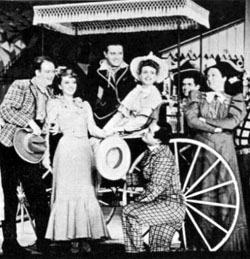 A scene from the original production of Oklahoma!