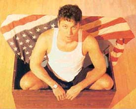 Tim Miller with Old Glory