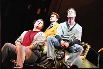 John Ellison Conlee, Jason Danieley, andJarrod Emmick in The Full Monty