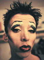 Kevin Cahoon in partialHedwig makeup