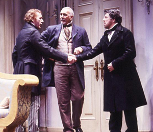 Timothy Doyle, Frank Langella, and Alan Batesin Fortune's Fool(Photo: Carol Rosegg)