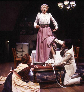 Kristine Nielsen, Cheryl Lynn Bowers, and Christian Camargo in The Underpants