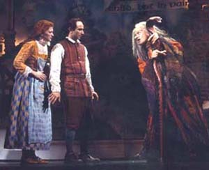 Kerry O'Malley, Stephen DeRosa, and (believe it or not)Vanessa Williams in Into the Woods