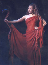 Williams as she appears in the showafter the Witch's transformation