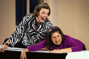 Lori Funk and Tracey Gilbert in Bargains & Blood (© Ethan David