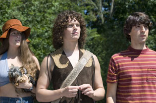 Mamie Gummer, Jonathan Groff, and Demetri Martin in Taking Woodstock