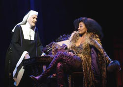 Sheila Hancock and Patina Miller in Sister Act