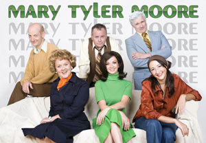 The cast of Torch Theater Company's Mary Tyler Moore Show (© Ann Marsden)