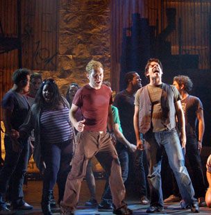 Stanley Bahorek, Mike Backes (front), Kyle Taylor Breeding, Peter Kriss, La'Nette Wallace, Brooke Wilson, Nicholas Park, Jonathan Kitt, Tom Hennes,  and Cara Buschi