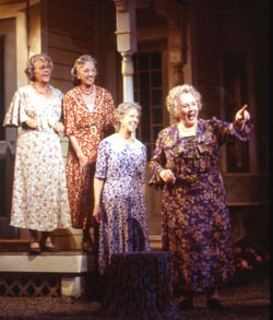 Estelle Parsons, Elizabeth Franz, Frances Sternhagen, and Piper Lauriein Morning?s at Seven(Photo: Joan Marcus)