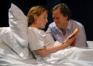 McKenna Kerrigan and Andrew Garman in The Bereaved