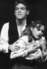 Kenneth Branagh andJoanna Pearce in Noble?s1993 RSC productionof Hamlet