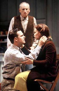 Chris O'Donnell, Samantha Mathis, and James Rebhorn inThe Man Who Had All the Luck(Photo: Joan Marcus)