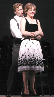 Small talk:Brent Barrett and Karen Ziembain The Pajama Game(Photo: Gerry Goodstein)