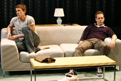 Patrick Heusinger and Patrick Breen in the