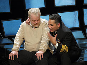 Philip Seymour Hoffman and John Ortiz in Othello