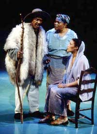 Chuck Patterson, Novella Nelson,and Linda Powell in The Odyssey(Photo: Carol Rosegg)