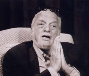 "Hal Prince making a point in an ""Intimate Conversation""last fall at Musical Theatre Works"