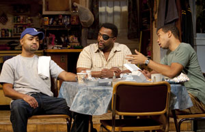 Francois Battiste, Wendell Pierce, and Alano Miller