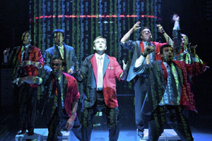 A scene from the London production of ENRON