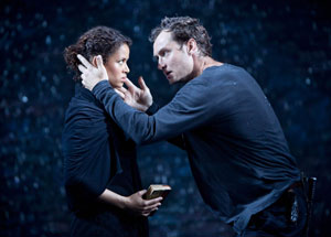 Gugu Mbatha-Raw and Jude Law in Hamlet