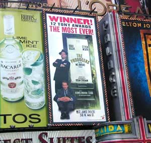 The Producers' billboard in Times Square