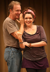 Reed Birney and Deirdre O'Connell in Circle Mirror Transformation (© Joan Marcus)