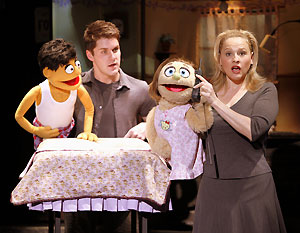 Seth Rettberg and Anika Larsen in Avenue Q