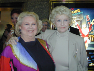 Stritch with Barbara Cook on the red carpetat Radio City Music Hall(Photo: Michael Portantiere)