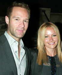 Chris Diamantopoulos and Becki Newton