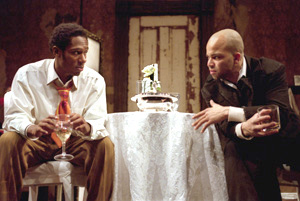Mos Def and Jeffrey Wright in Topdog/Underdog(Photo: Michal Daniel)