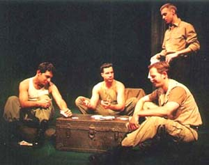 Gregory Sims, Anthony Del Corvo, Raphael Terrizzi (standing),and Jack Reiling in Flights of Angels