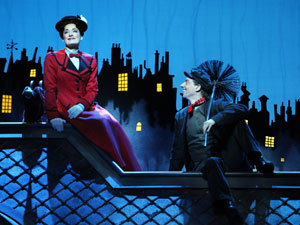 Laura Michelle Kelly as Mary and Christian Borle