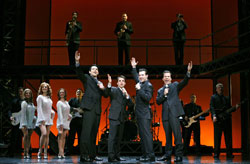 The touring cast of Jersey Boys