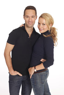 Chris Diamantopoulous and Becki Newton