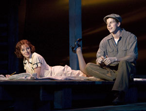 Laura Osnes and Stark Sands in Bonnie & Clyde