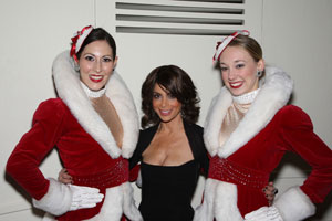 Paula Abdul and the Rockettes