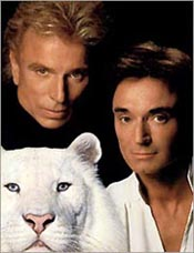 Siegfried, Roy, and a furry friend