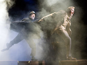 Eric Hissom and Ted Deasy in The 39 Steps