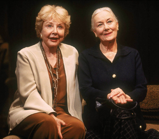Michael Learned and Rosemary Harris in All Over(Photo: Joan Marcus)