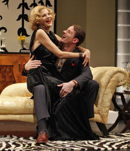 Kristen Johnston and Matthew Waterson in So Help Me God!