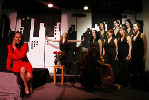Sheila Dabney (left) and company in Red Noir